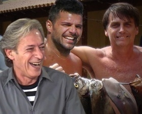 Bolsonaro vai pescar com Ricky Martin