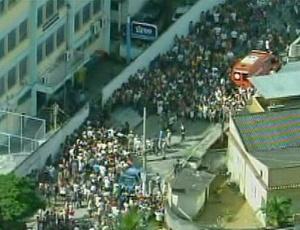 Escola Municipal Tasso da Silveira, em Realengo, na zona oeste do Rio, onde houve tiroteio