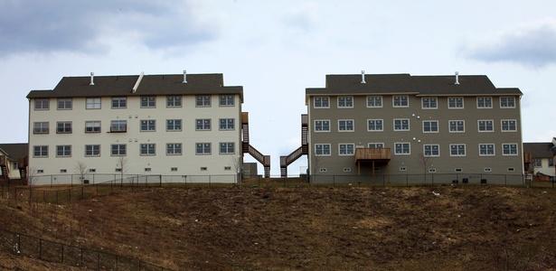 Habitação no vilarejo de Kiryas Joel