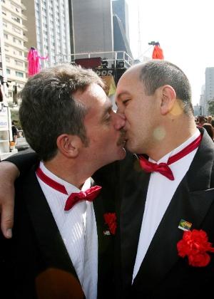 """Casal David Harrad e Toni Reis: """"Estamos radiantes"""""""