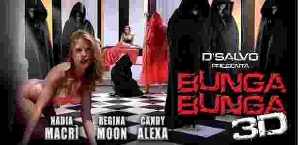 """Cartaz de divulgação do filme """"Bunga Bunga 3D"""", inspirado nas supostas festas de Berlusconi - Divulgação"""