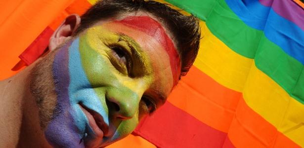 Manifestante participa de parada gay em Madri, na Espanha (02.07.2011)