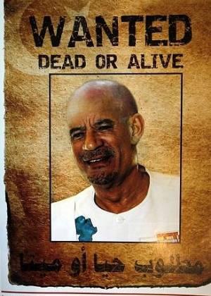 Cartaz com Gaddafi careca é distribuído em Trípoli