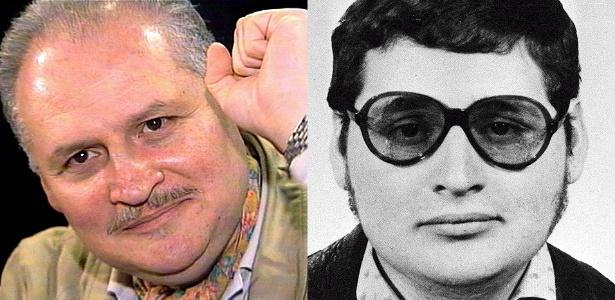 Carlos, o Chacal, em montagem com imagens de seu rosto em 2000 e 1975