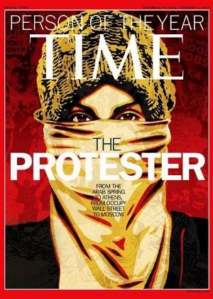 """Capa da edição da revista americana Time anunciando a """"personalidade do ano"""" de 2011 - Divulgação"""