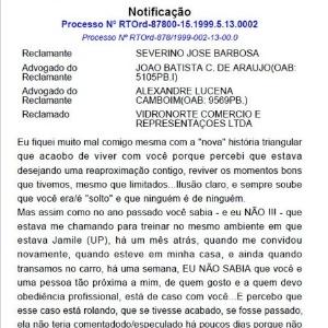 Carta de amor é publicada por engano no Diário Oficial do TRT da Paraíba