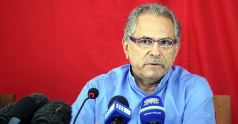 O atual presidente do Timor Leste, José Ramos-Horta, concede entrevista coletiva em Dili