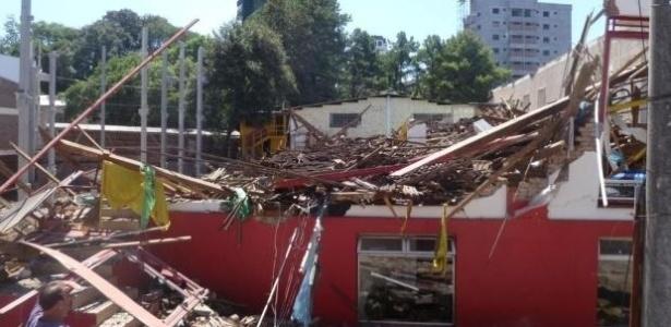 Prédio comercial de dois pisos desabou em Lajeado, no Vale do Taquari, Rio Grande do Sul