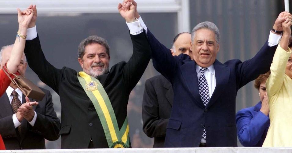 Lula toma posse em Brasília em 2003