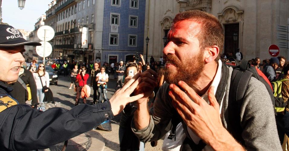 Protesto em Portugal contra medidas de austeridade do governo