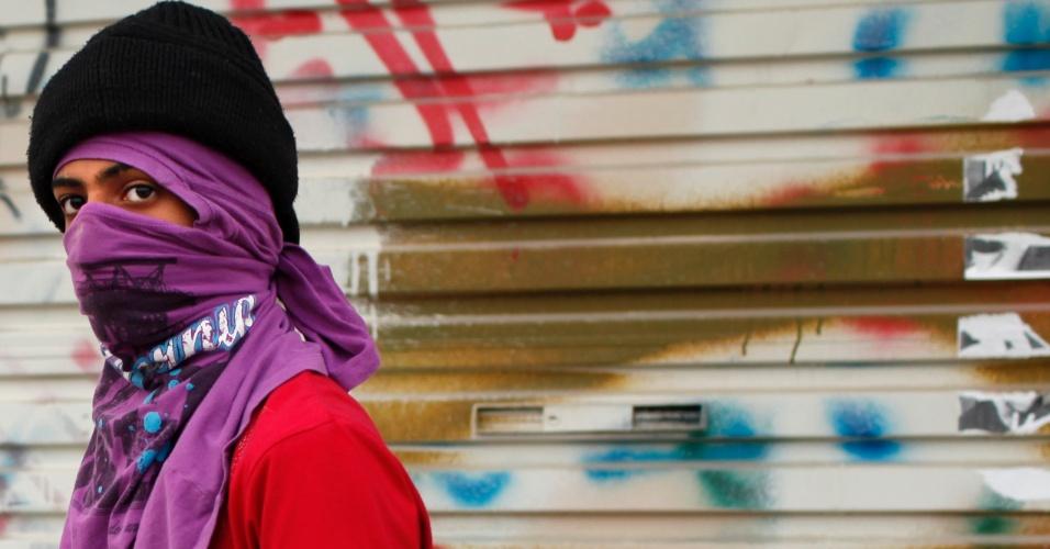 Bareinita vai a protesto no vilarejo de Jidhafds, a oeste de Manama