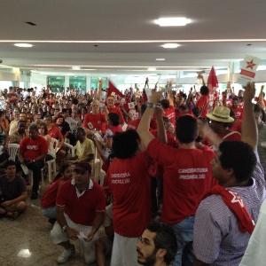 Encontro do PT em Belo Horizonte, no qual o partido definiu apoio a Márcio Lacerda (PSB)
