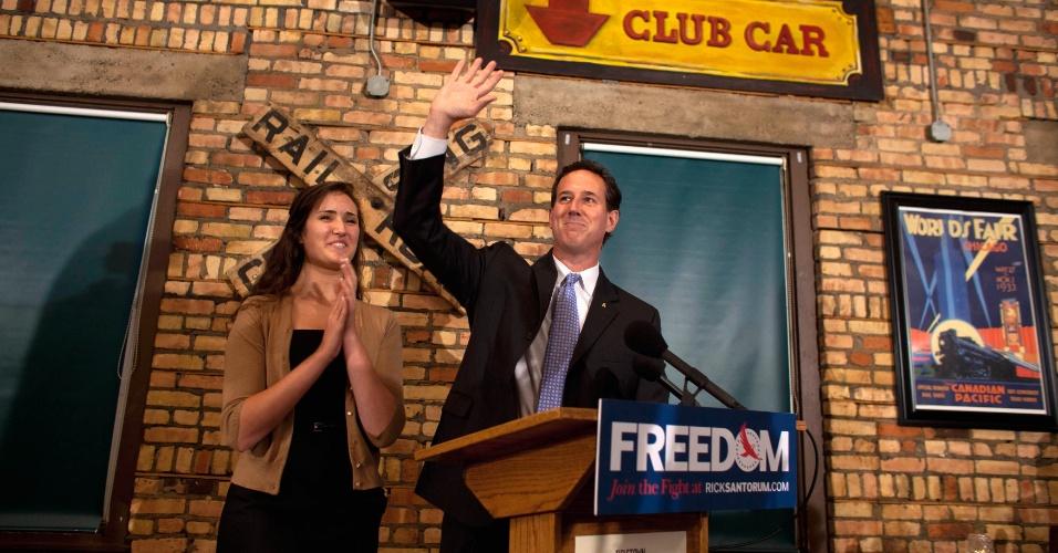O ex-senador Rick Santorum venceu neste domingo (25) as primárias republicanas no estado da Louisiana com 49% dos votos