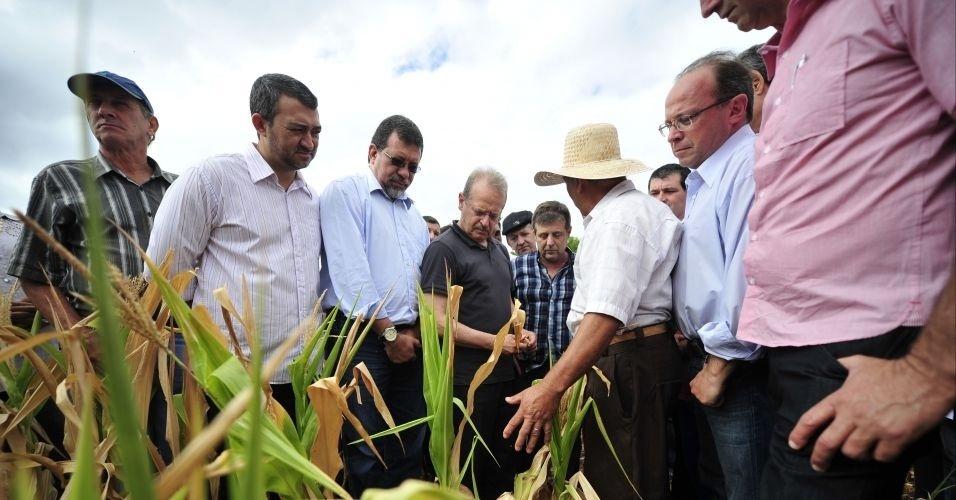 O governador Tarso Genro, acompanhado pelos ministros da Agricultura, da Integração Nacional e do Desenvolvimento Agrário, visita propriedade em Joia, noroeste do Estado do Rio Grande do Sul