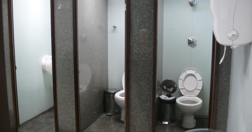 Banheiro do Aeroporto Internacional de Belo Horizonte, em Confins (MG)
