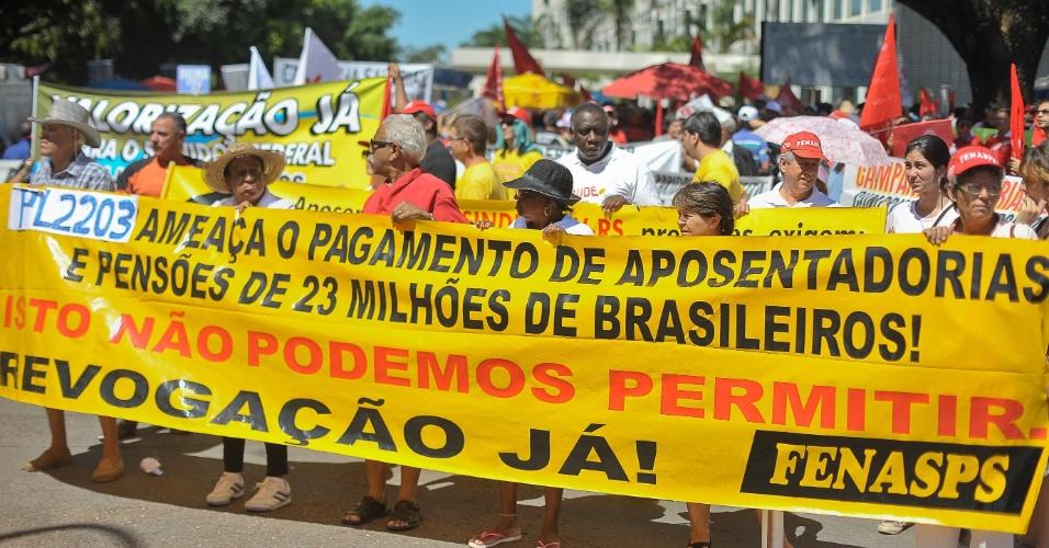 Manifestação do comando do Fórum Nacional das Entidades dos Servidores Federais em Brasília