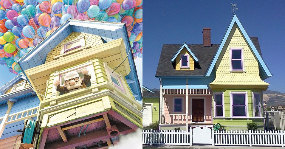 Uma construtora americana resolveu inovar e fazer uma casa - de verdade - inspirada na casa do filme