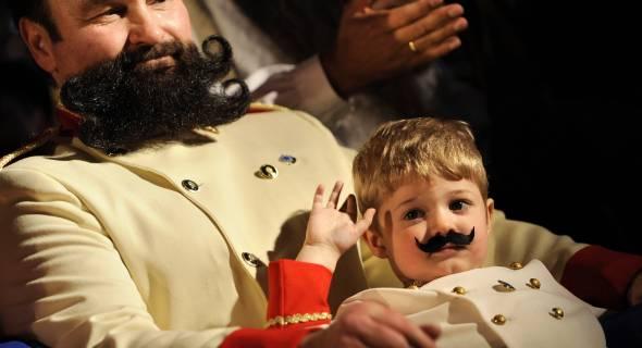 Pequeno Leo Breitenberg mostra que pretende seguir os passos do pai Harold