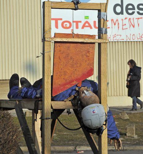 Refinaria fechada na França