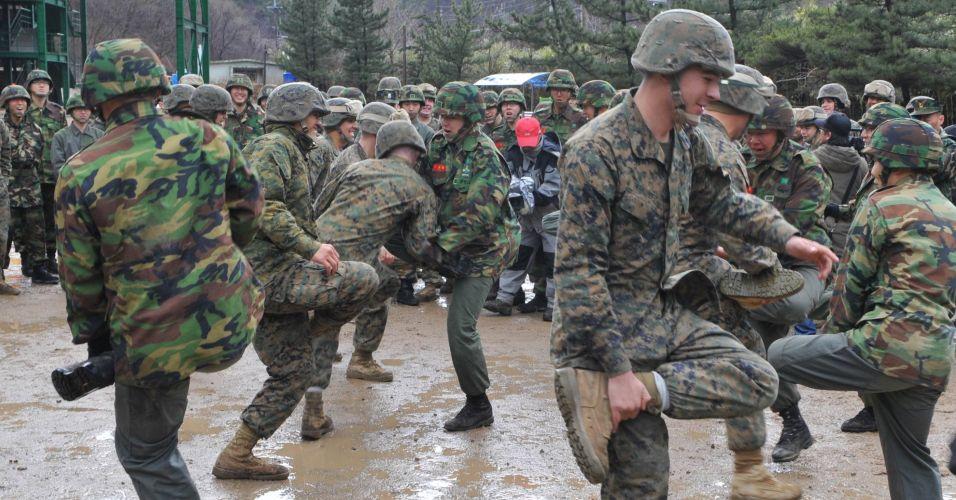 Treinamento na Coreia