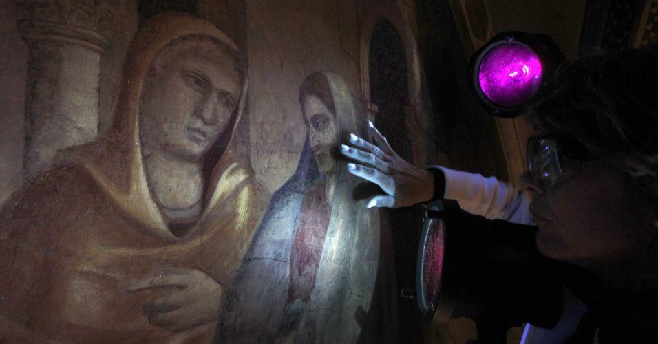 Pintura de Giotto em Florença