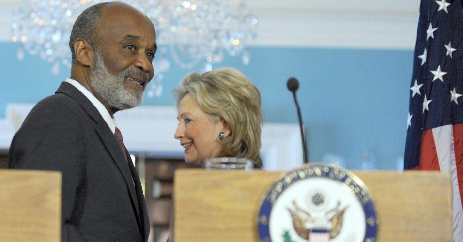 Préval e Hillary