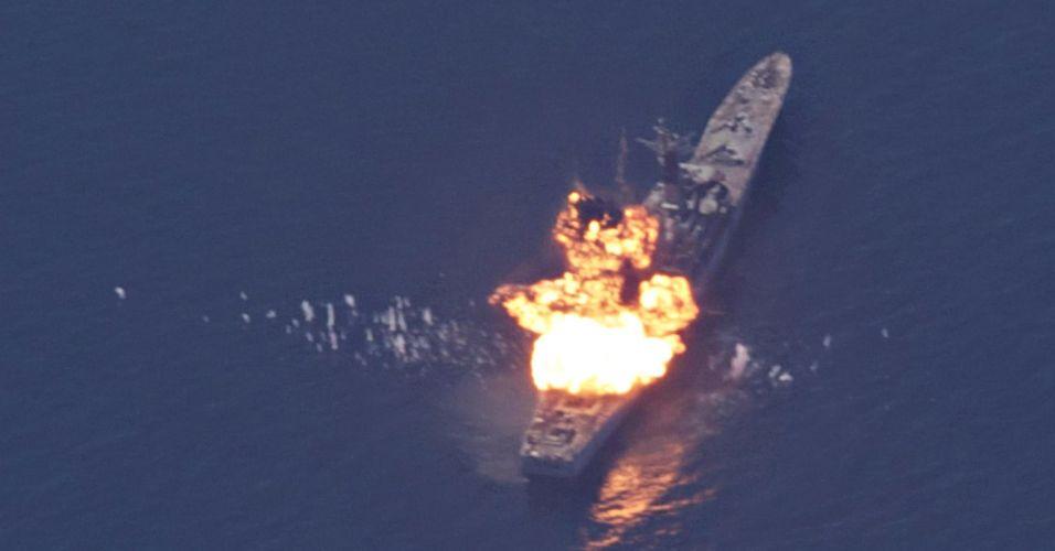 Teste naval no Paquistão
