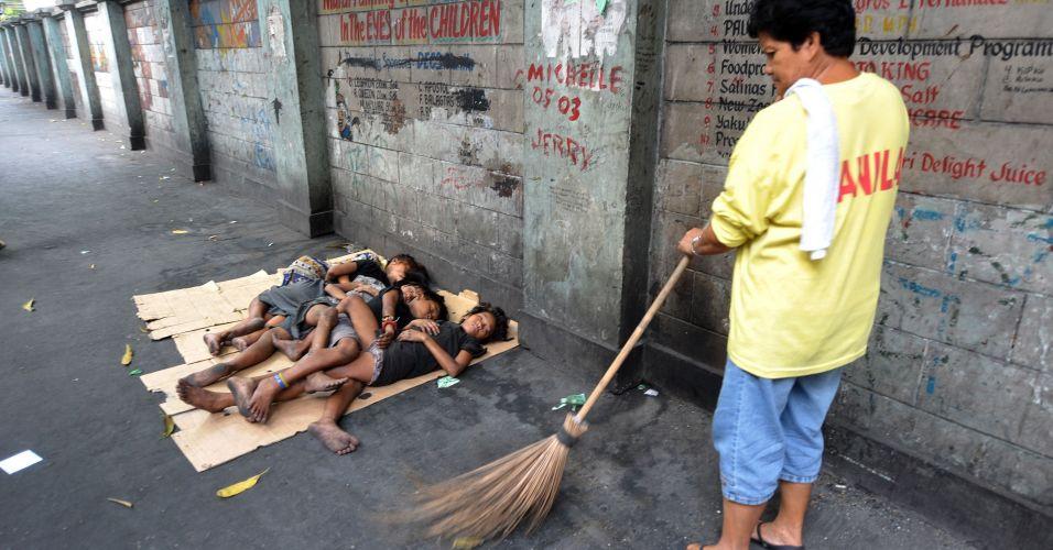 Meninos de rua nas Filipinas