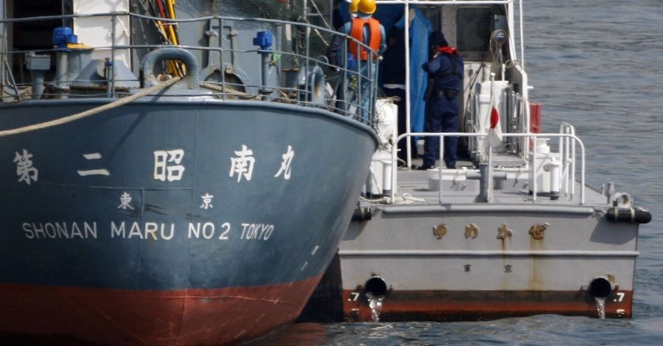 Ativista preso em alto-mar no Japão