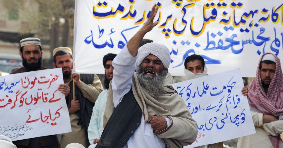 Manifestação no Paquistão