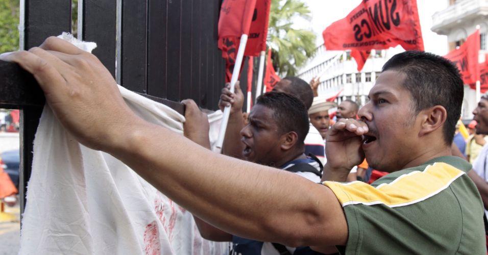 Manifestação no Panamá