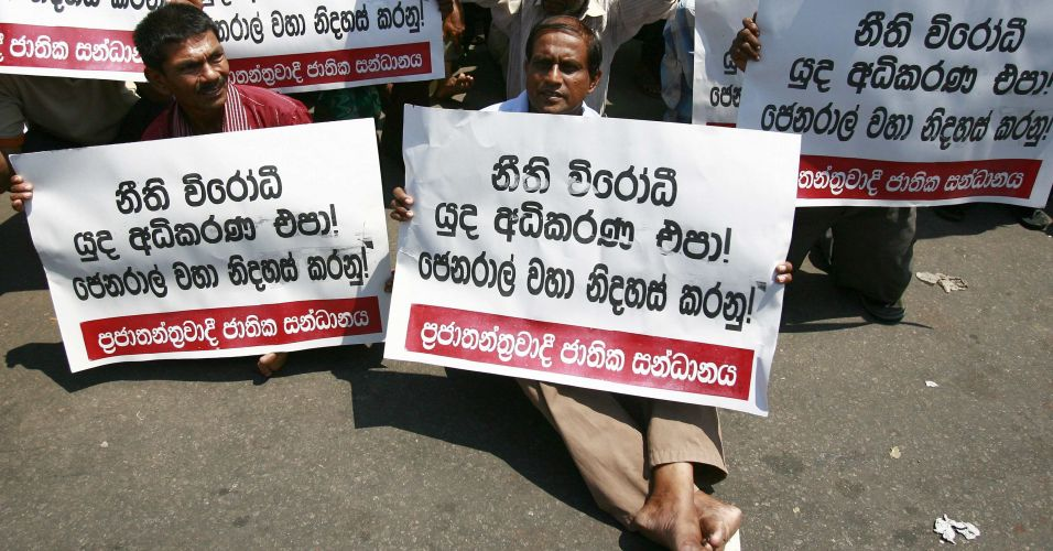 Protesto no Sri Lanka