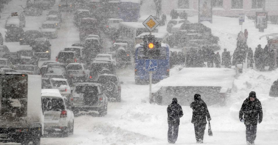 Nevasca na Rússia