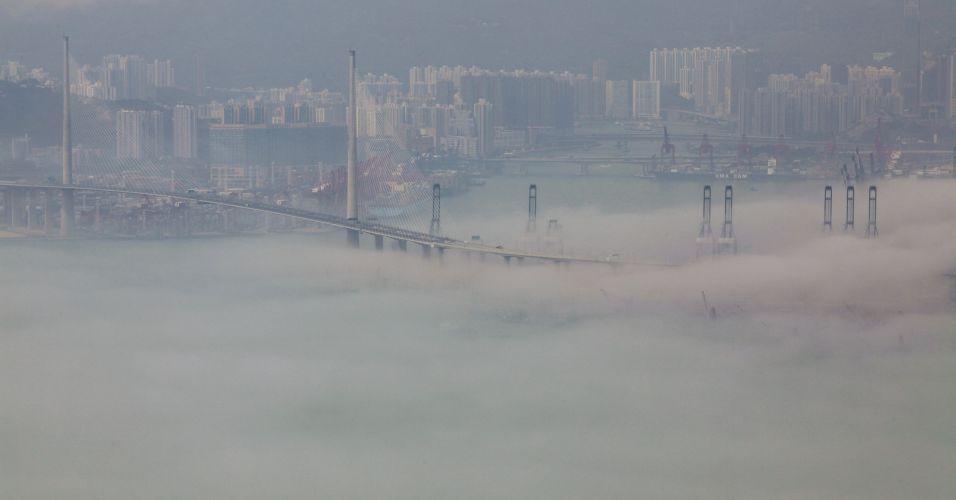 Neblina em Hong Kong
