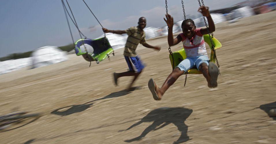 Brincadeira no Haiti