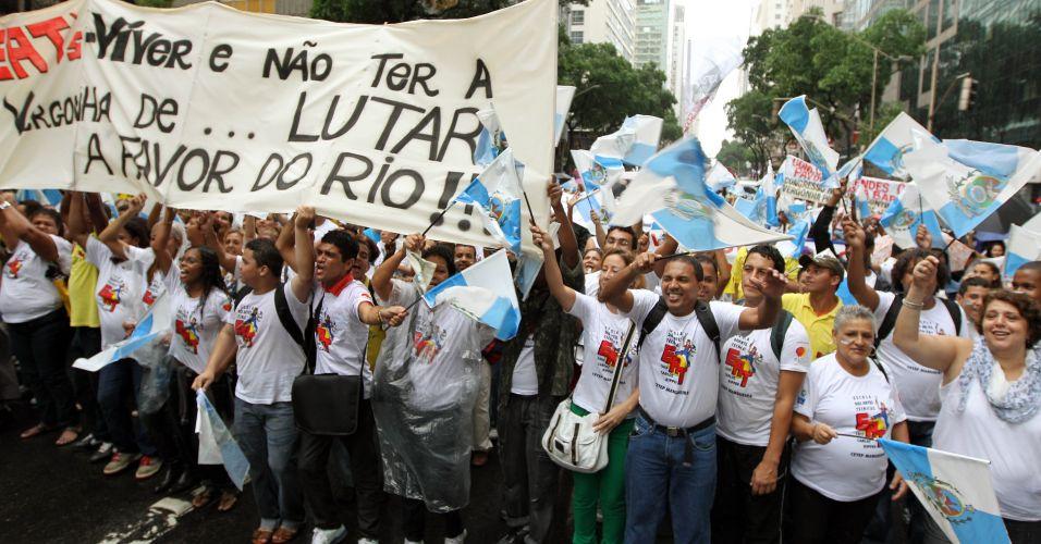 o governador do Rio, Sérgio Cabral, decretou ponto facultativo do funcionalismo estadual a partir das 16h