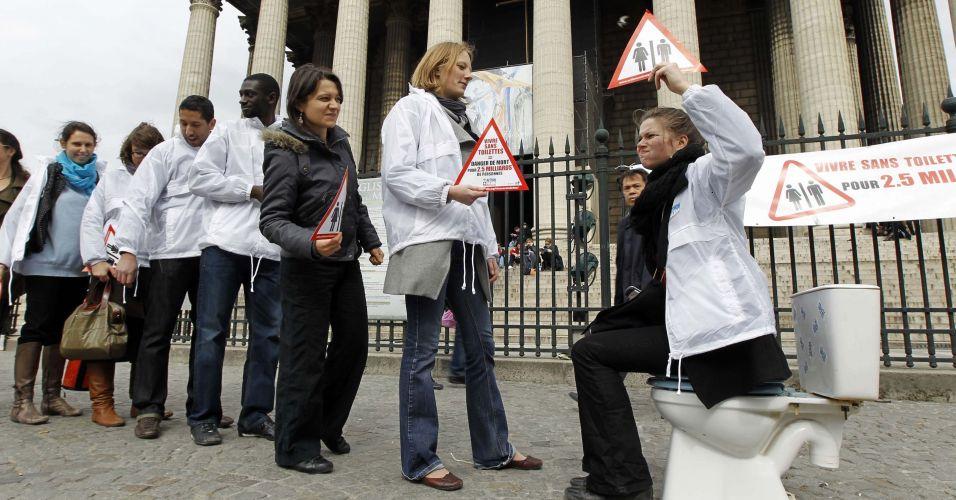 Protesto por saneamento básico