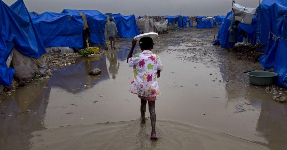 Acampamento no Haiti