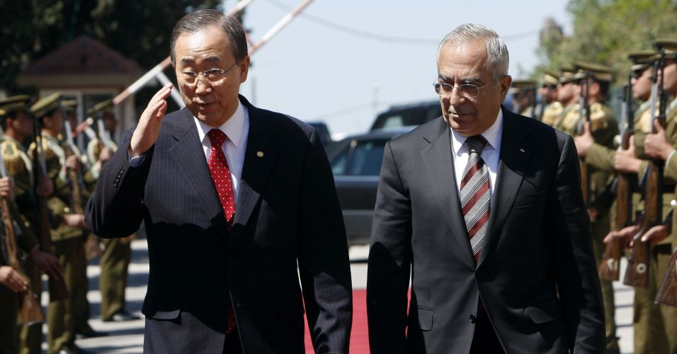 Ki-moon visita líder palestino