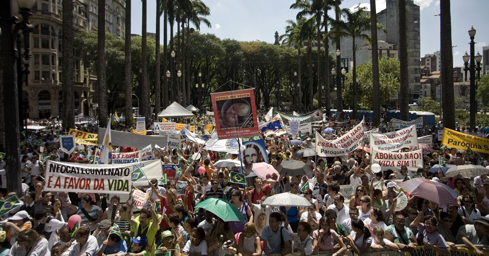 Manifestação contra o aborto em SP