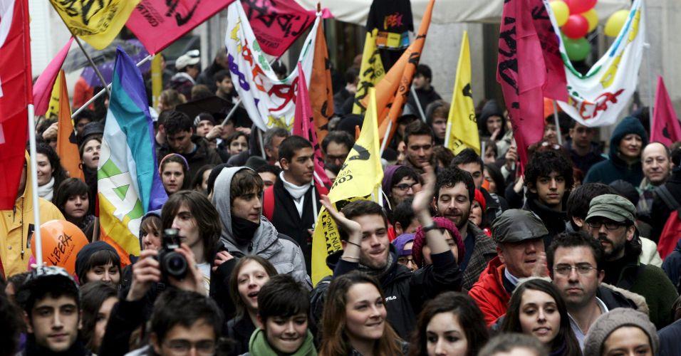 Manifestação contra a máfia