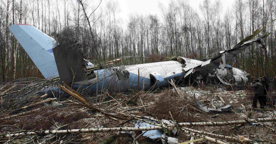 Avião faz pouso forçado na Rússia
