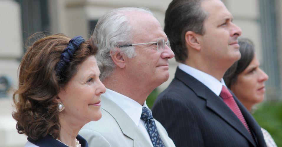 Rei e rainha da Suécia no Brasil
