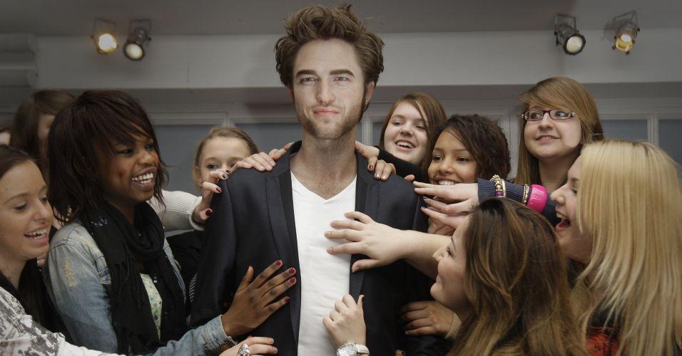 Pattinson de cera em Londres