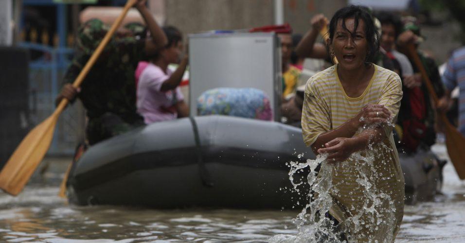 Enchente na Ilha de Java