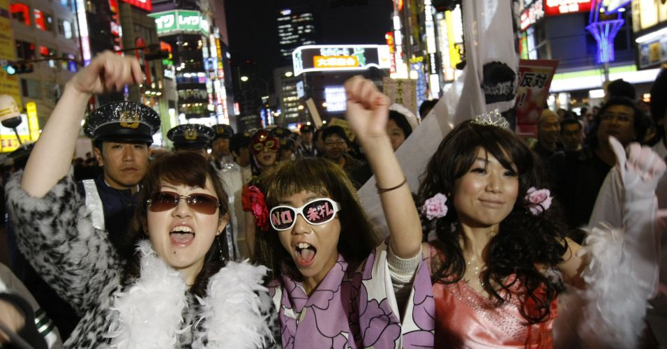 Protesto em Tóquio