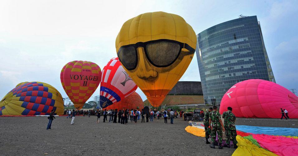 Festival de balões na Indonésia