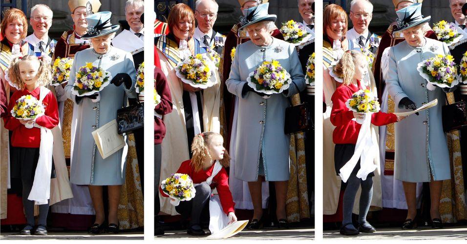 Gentileza para a rainha da Inglaterra