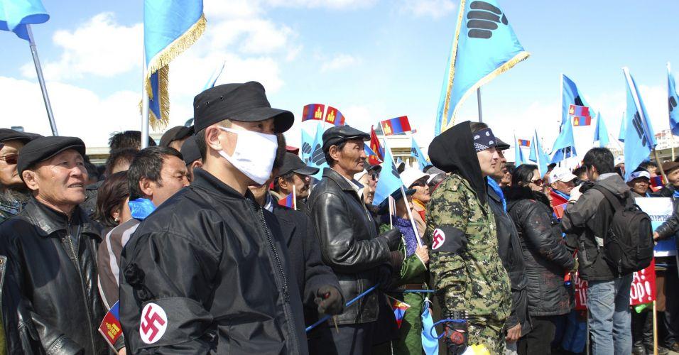 Protestos na Mongólia