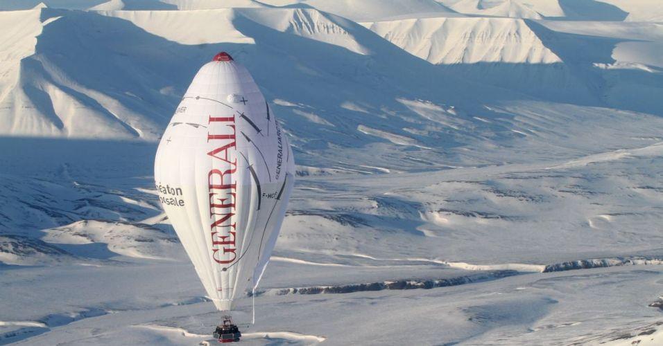 Travessia solitária no Pólo Norte